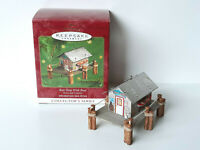 Hallmark Tin BAIT SHOP WITH BOAT Town and Country Series Keepsake Ornament 2000