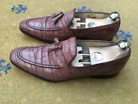 Oliver Sweeney Mens Shoes Brown Moc Croc Tassel Loafer UK 8 US 9 EU 42