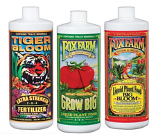 32 oz FoxFarm Nutrient 3-Pack Fertilizer Big Bloom Grow Big Tiger Bloom Quarts
