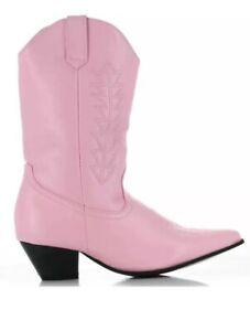 """Ellie 1031 Girls 1.5"""" Heel Western Costume Pink Cowboy Boots Child Size 2/3 NIB"""