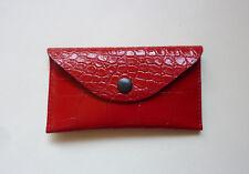 Neue Taschentüchertasche für die Handtasche - rot / schwarz