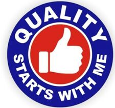 Quality Starts With Me Hard Hat Decal / Helmet Stickers Safety Label Safe Worker