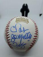 2016 Chicago Cubs World Series Autographed Baseball. Chris Bosio, John Mallee...