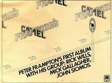 "19/5/1973D7 album advert 7x10"" Peter frampton's camel"