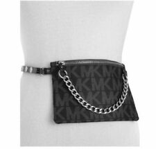 NWT Michael Kors Belt Bag MK Signature Logo Fanny Pack  Size Large  Black