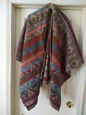 Ralph Lauren Country Vintage USA Aztec Poncho Blanket Southwestern Serape OneSz