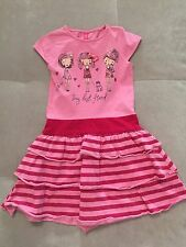 55023384316720 Baby Girl Pink And Blue Boutique Dress 4-5 Years Pink Girlfriend Cotton