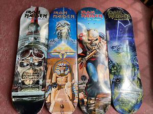 Zero X Iron Maiden Set Of Skateboard Decks First Edition / Limited To 300