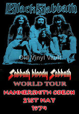 Black Sabbath-Hammersmith Odeon UK 1974 vintage concert poster repro