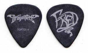 DragonForce Fred Leclercq Signature Black Guitar Pick - 2007 Tour