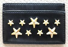 NIB Jimmy Choo Star Black Leather Card Case Retails $200 Plus Tax