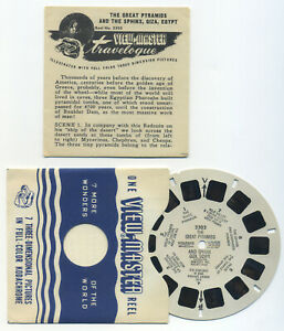 The Great PYRAMIDS and SPHINX Giza Egypt 1950 View-Master Reel 3303