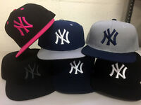 New York Yankees Snap Back Cap Hat Embroidered NY Men Adjustable Flat Bill