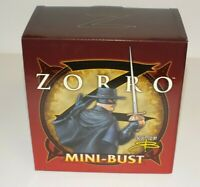 """Zorro Mini Bust 6"""" L/E#1619 of 2,500 Bowen Designs 2003 Statue NIB"""