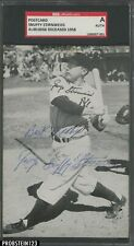 """GEORGE """"SNUFFY"""" STIRNWEISS YANKEES D.1958 SIGNED PHOTO PC SGC/A"""