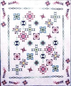 New COMPLETE BOTM Pieced and Applique Quilt Pattern NORTH BY NORTHWEST 95X112
