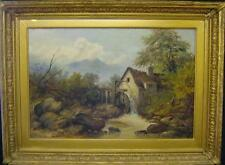 HENRY CLEMENTS - ACT. 1870-1916 - THE WATERMILL - SUPER OIL - SCOTLAND / WALES