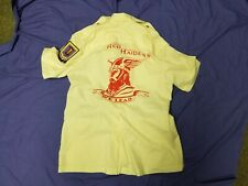 Vintage Red Raiders We Lead 22nd Bomb 33rd Squadron Shirt 3 Patches Military