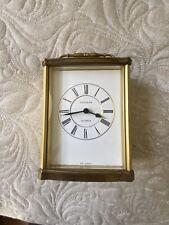 Vguc ~ Vintage C.D. Peacock Small Gold Colored Quartz Clock ~ West Germany