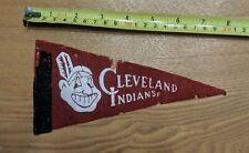 "Vintage 60s Chief Wahoo Cleveland Indians MLB Baseball Mini Felt Pennant 4""x9"""
