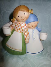 Goebel - ENGEL und Junge mit Schlafmütze und Kerzen Nordische Weihnacht   16 cm