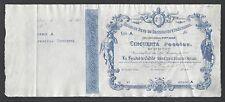 Spain - Banco de Reus de Descuentos y Presta 50 Pesetas 1-1-1910 Specimen XF