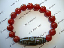 FENG SHUI - 9 EYE DZI WITH 10MM RED AGATE