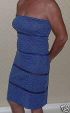 Strapless Stretch Lace Dress in Denim/Navy size 14