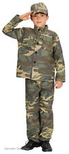BOYS ARMY SOLDIER COSTUME CAMO MILITARY KIDS BOOK WEEK OUTFIT 6-9 NEW