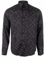 Armani Jeans Mens Grey Multi-Pattern Shirt All Sizes BNWT RRP £140