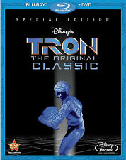TRON Original Classic Sci-fi Tech Gamer Movie Blu-ray DVD English French Spanish