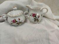 Vintage Royal Sealy Porcelain Miss Rose Made In Japan Creamer & Sugar