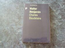 livre WALTER BENJAMIN  -  CHARLES BAUDELAIRE