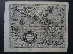 1608 HONDIUS Mercator  Atlas map  AMERICA - Americae Descrip l'Amerique