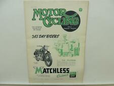May 1947 MOTORCYCLING Magazine Matchless Clubman G3/L G80 L9773