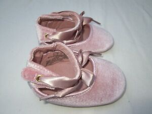❤ ALDO baby shoes pink velvet satin bow size 3 FREESHIP