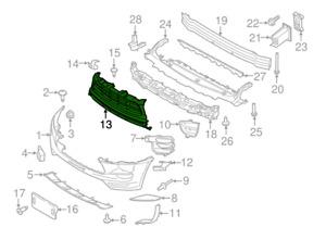Porsche Macan 95B PARE-CHOCS AVANT GAUCHE Grill Trim 95B8076851E0 Neuf OEM