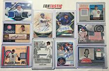 Chicago Cubs Relic & Autograph Card YOU PICK #d, RC, Auto Past & Present Players