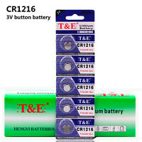 15X 3V CR1216 DL1216 ECR1216 3 Volt Button Coin Cell Battery for CMOS watch toy