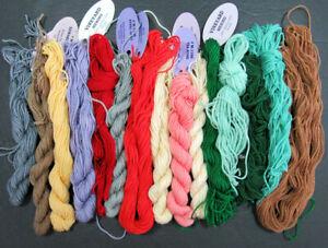 15x Needlepoint/Embroidery THREAD WILTEX Vineyard 1 ply Merino wool-mixed-NJ43