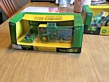 John Deere 7720 Combine With Yellow Top And Both Heads By Ertl 1/64th Scale