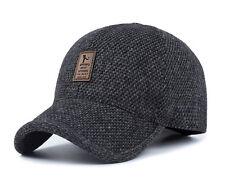 Men's Winter Hat Baseball Hat  with Ear Flaps Warm Cotton