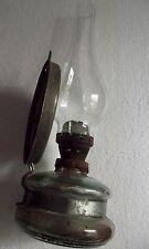 antique 1940s Romanian kerosene oil Lamp glass mirror reflector burner rusty