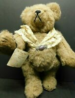 "Handmade Artist Original Bear Sande Heird Victorian Style 12"" with Brooch 1992"