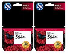 GENUINE HP 564XL Photo Black Ink 2-Pack for Photosmart 7510 7515 7520 7525 B8550