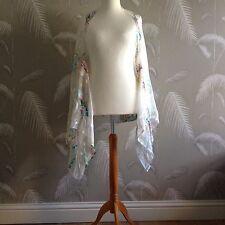 Designer Pure Silk Chiffon Drape Evening Jacket stole One Size.