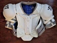 WARRIOR PROJEKT PRO STOCK SHOULDER PADS SIZE SR MEDIUM RETURN NHL APPROVED CAPS