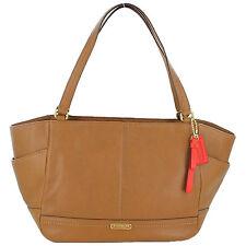 NWT COACH F23284 Tote Bag Smooth Park Leather Carryall British Tan Handbag Purse
