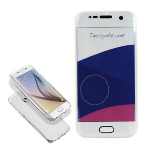 Samsung S7/S8 Two Crystal Case Full Screen Body Protection CLEAR