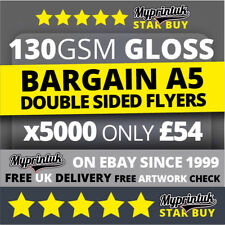 5000 A5 Flyers Leaflets Printed 130gsm Gloss